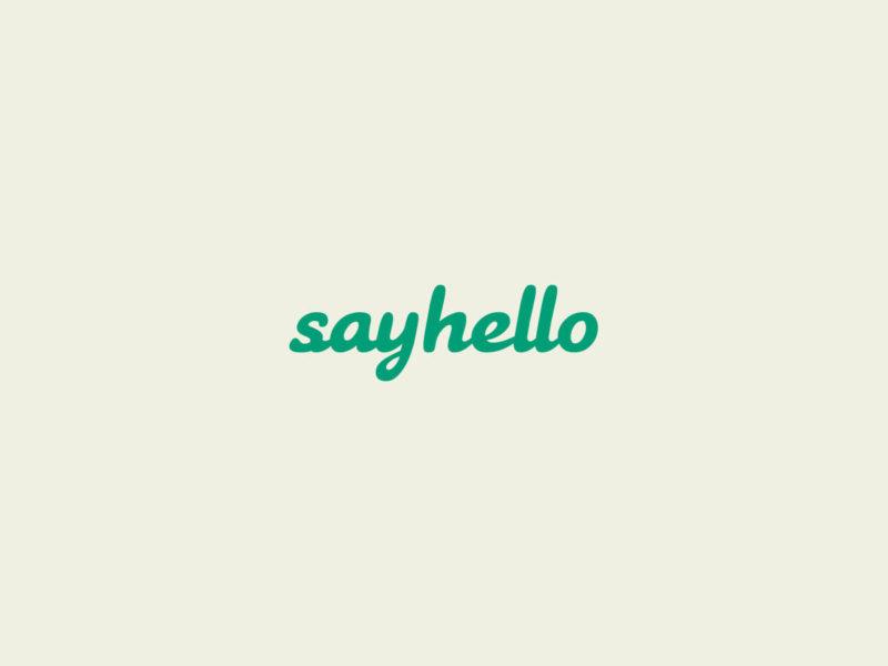 Sayhello – Brand identity